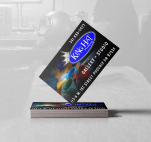 kinghat pinstriping business card logo design medford oregon